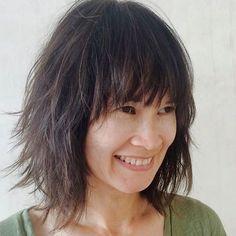 medium Asian shaggy hairstyle