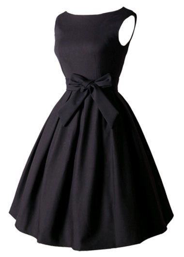 Sleeveless Bowknot Decorated Black Skater Dress on sale only US$27.79 now, buy cheap Sleeveless Bowknot Decorated Black Skater Dress at http://lulugal.com
