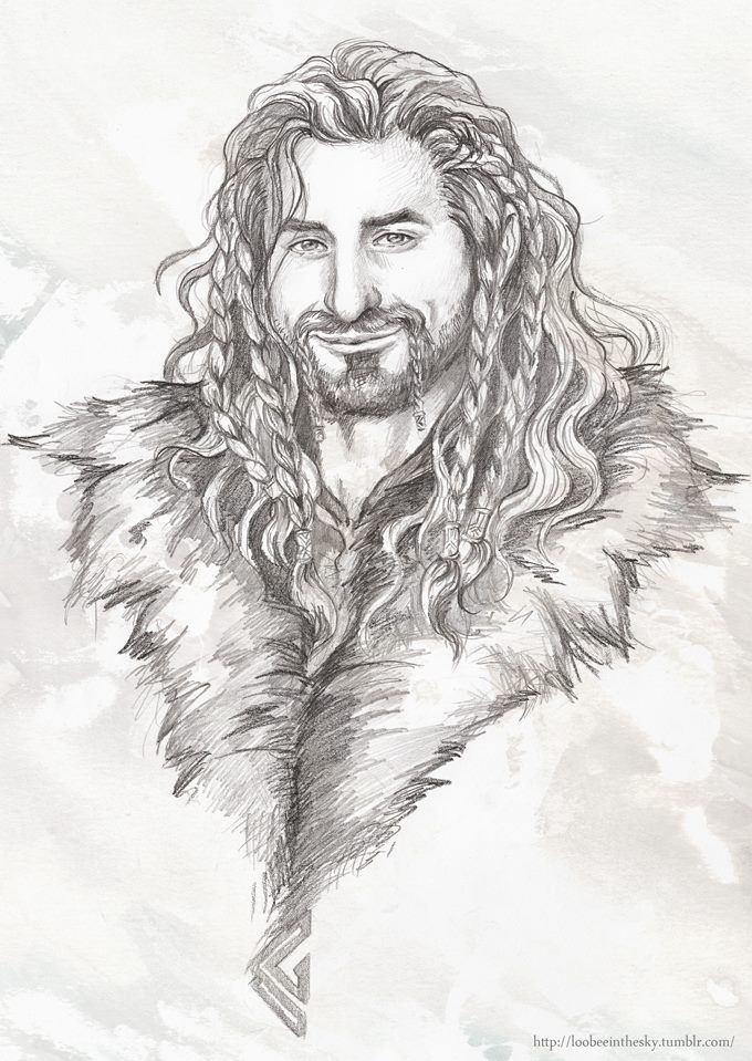 Fili's smug grin by loobeeinthesky on Tumblr (I'm jealous of how well this person can draw Dean O'Gorman's face)