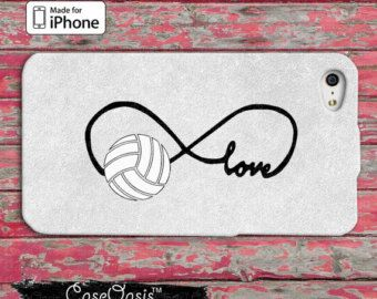 Volleyball Love Infinity Symbol Tumblr Inspired Cute Custom iPhone 4 and 4s Case and Custom iPhone 5 and 5s and 5c Case