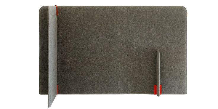 BuzziZone, divisorio in feltro, su NOmadeDESIGN http://www.nomadedesign.com/index.php/prodotti/pouff-tende-tappeti