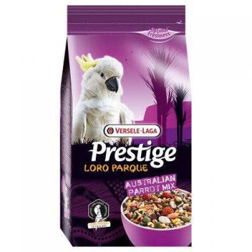 Prestige Premium Australian #Parrot Blend 1kg  As used to feed all #Cockatoos and Australian Parrots in Loro Parque.This premium mix containing a variety of seeds, vegetables and cereals is made exclusively to fulfil their nutritional needs, ensuring your bird stays in the best of health.