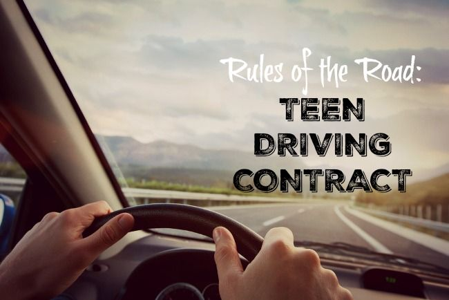 We created a contract for our teenage driver to gradually learn how to drive without distractions in an effort to teach our children to Drive Safely #SharlingSafety