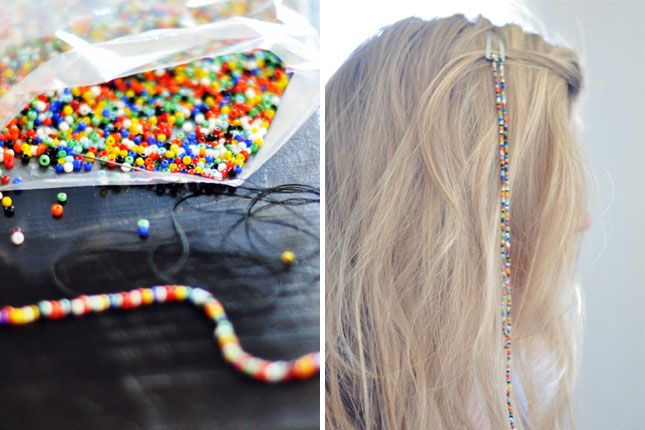 Hanging Seed Bead Hair Clip | 40 Hair Accessories You Can Buy or DIY