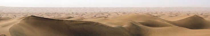 Xinjiang - Panoramic - Taklamakan Desert Middle