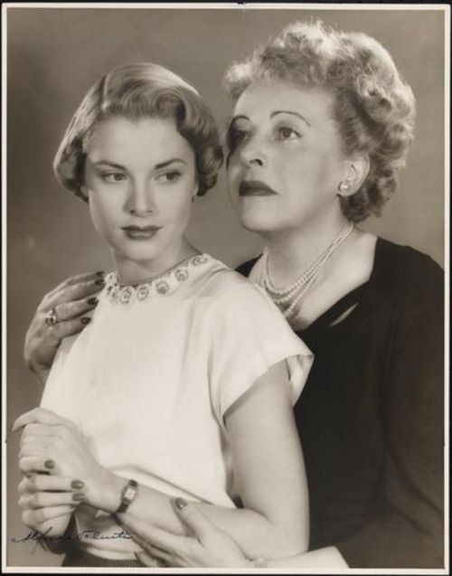 """Grace Kelly and Mady Christians, stars of Broadway drama """"The Father"""" (1949)"""