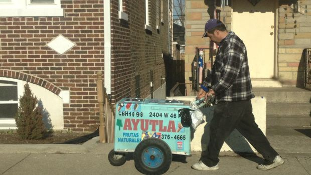 You know it's springtime in Chicago when you see El Paletero man on the streets.