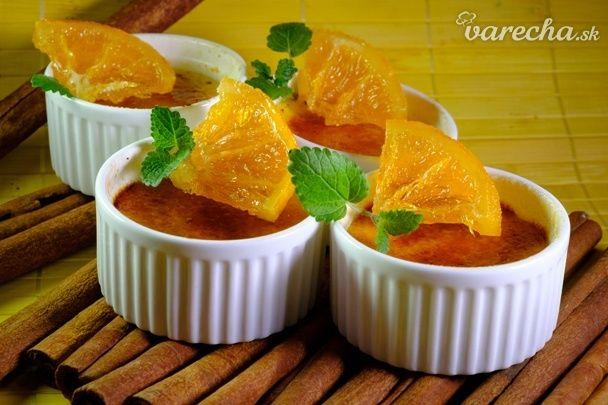 Pomarančové crème brulée