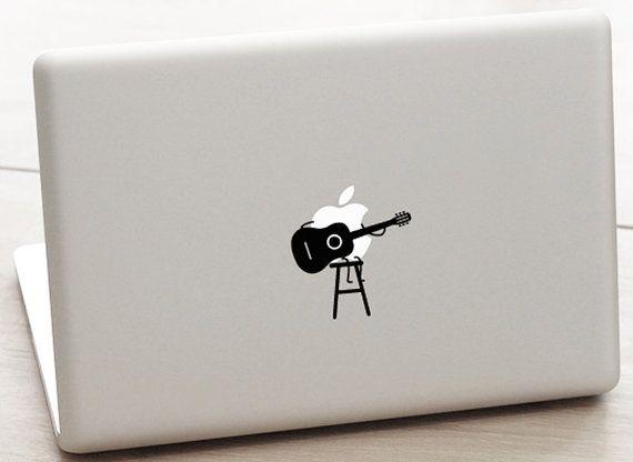 Macbook pro guitar decal guitar decal classic guitar sticker guitar sticker country
