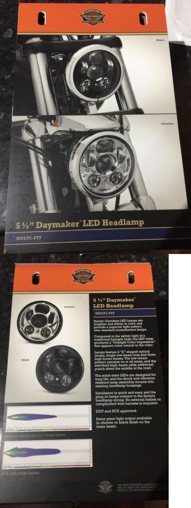 motorcycle parts: Genuine Oem Harley Davidson 5-3/4 Led Daymaker Headlight Black P/N 67700145A BUY IT NOW ONLY: $300.0