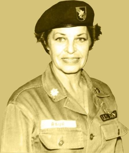 The only woman buried in the Special Forces cemetery at Fort Bragg, NC. Martha Raye