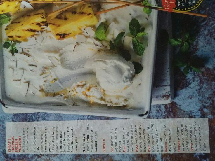 Cheat's Tropical Frozen Yoghurt