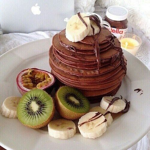 Fruits and pancakes