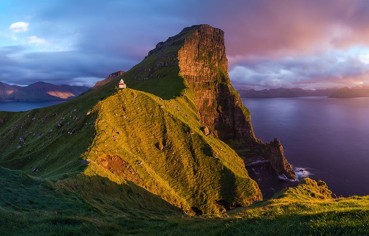 Sunset at the Edge of the World   Kalsoy, Faroe Islands - Vicki Mar