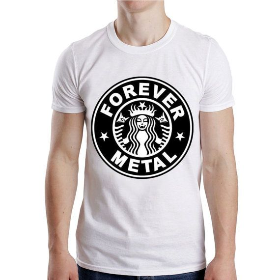 starbuck forever metal for punk for men t shirt  size by NewGalaxy, $19.00