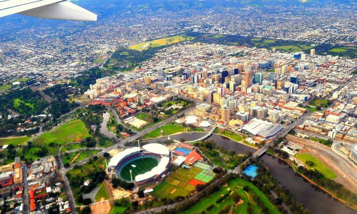 Aerial view of Adelaide, South Australia including the revamped Adelaide Oval By: Suzanne OFlaherty