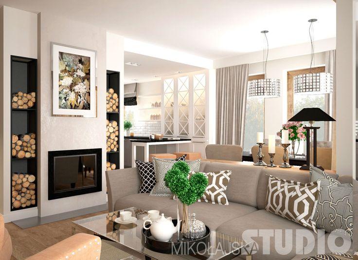 Elegancki salon w stylu nowojorskim #wnętrza #styl nowojorski
