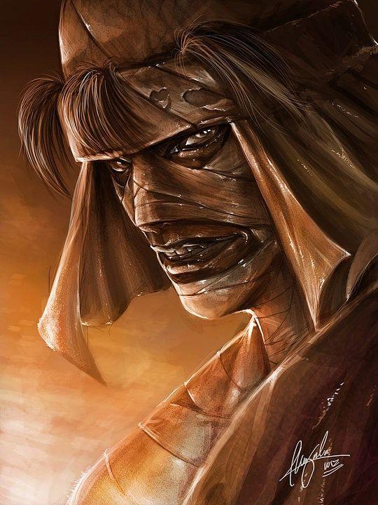 Amoooo....Unique Digital Art by Ceasar Ian P. Muyuela  Samurai X/Rurouni Kenshin
