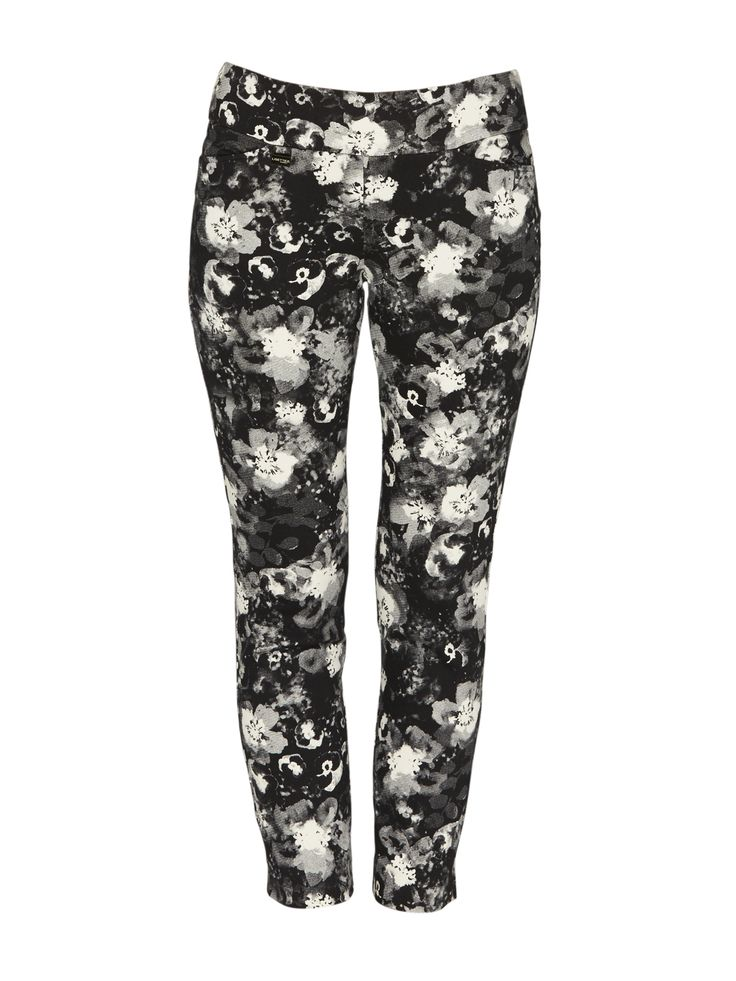 Lisette - Slim Pansy Print Pants