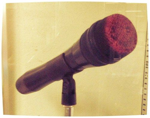 Selena's microphone covered in her well known listick color. All her mics ended up looking like that after her concerts. This one is on display at the Selena Museum in Corpus Christi Texas and is from the infamous Last Concert.