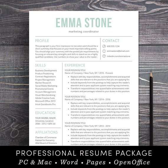 "⚡ 24HR FLASH SALE - Now Buy 1 get 1 FREE with coupon code SHINEONBOGO ⚡ Need a resume makeover? ""The Emma professional resume template features a bold, modern and sophisticated design with clean, easy-to-read formatting - the kind of resume that stands out and makes a strong"