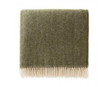 Salantai Wool Blanket Olive