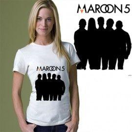 Kaos Sablon Satuan Band Maroon 5 | direct to garment t-shirt printing Maroon 5  http://kaosdistroweb.com/kaos-sablon-satuan-band-maroon-5/