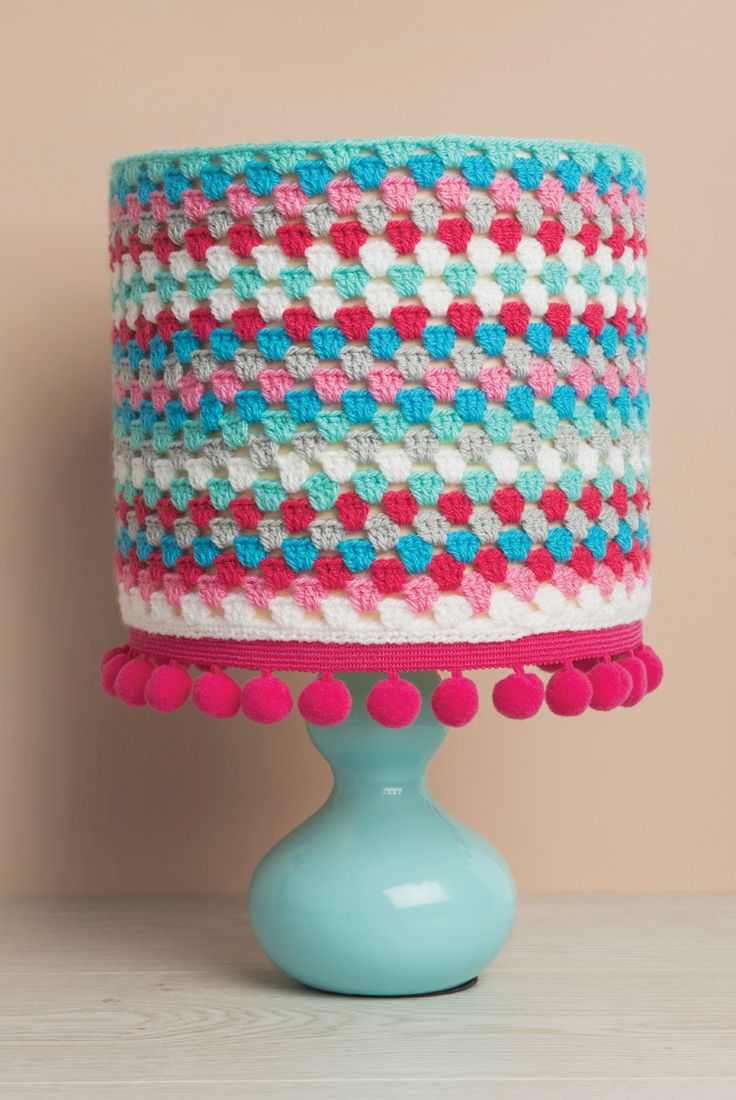 "Free crochet lampshade pattern from ""Beginner's Guide to Crochet"" by Sarah Shrimpton"