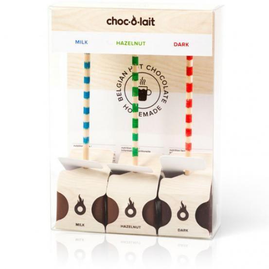Set van 3 chocoladesticks