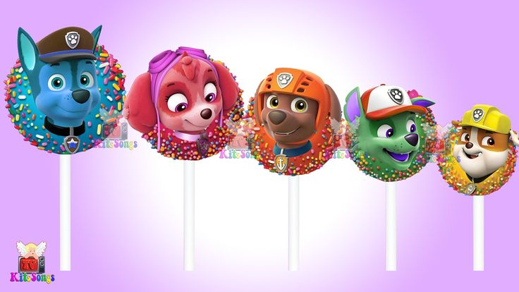 Paw Patrol Transforms Into Cake Pop - Paw Patrol Finger Family