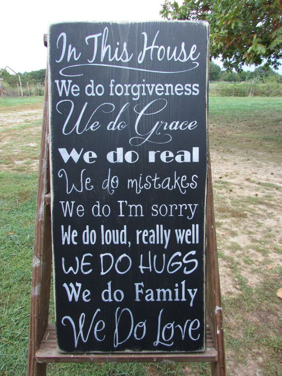 family rules sign, wood sign, hand painted sign, distressed sign, primitive country home decor, rustic home decor