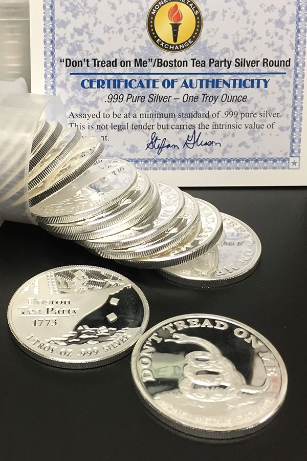Don T Tread On Me Tea Party 1 Oz Silver Rounds Money Metals Gold And Silver Coins Silver Rounds Silver Bullion