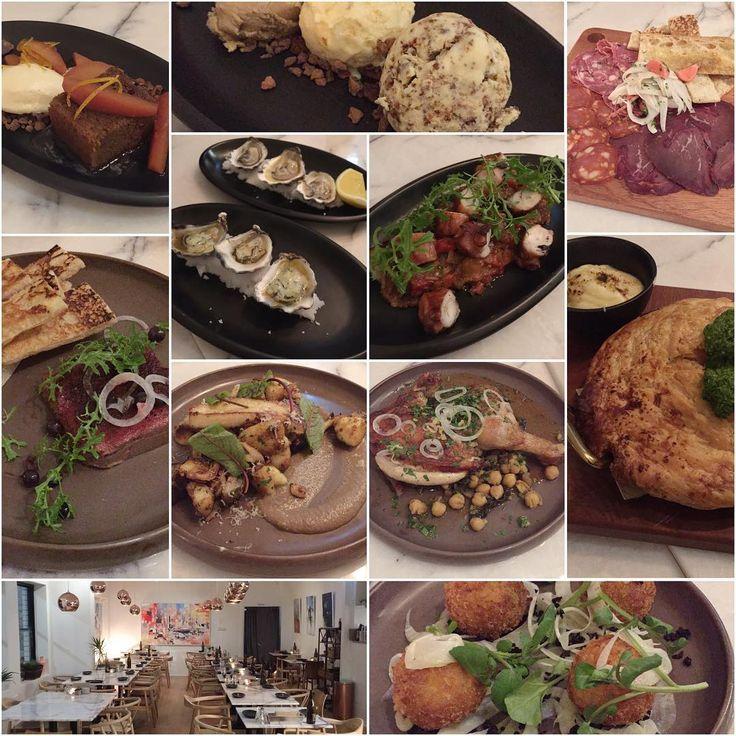 #Erskinevilla ☺️ #chickenliverparfait / #saltcod #croquettes / #braisedlamb #pie / #brickchicken / #sauteed #gnocchi #mushrooms / #curedmeat #platter / #oysters / #octopus #caponata / #quince #chocolate #almond #crumble #roseicecream