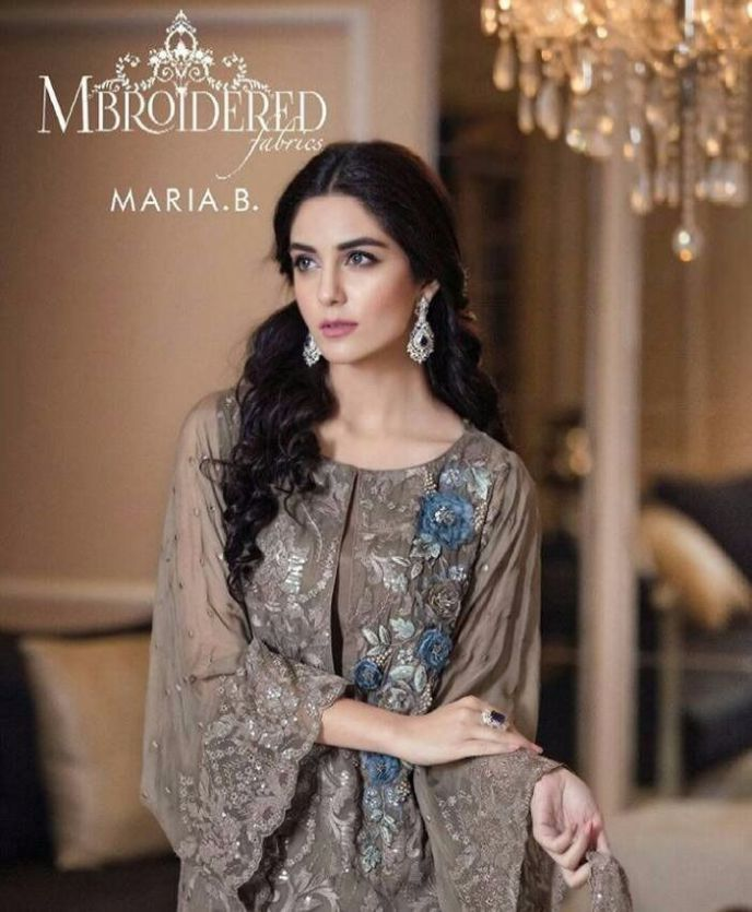 Maria.B Luxury Embroidered Chiffon Spring Summer Collection 2016