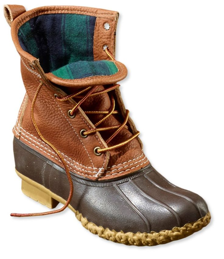 """Tumbled-Leather L.L.Bean Boots, Women's Flannel-Lined 8"""" Size 7 available in stores"""