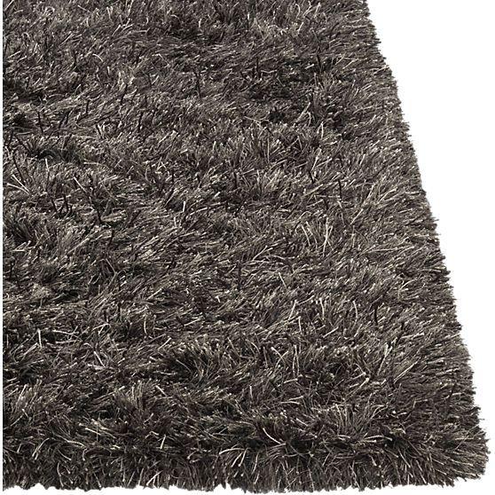 drake grey shag rug in rugs | CB2