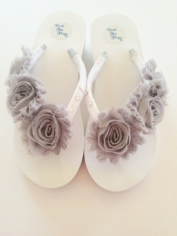 5095e9fbafa14 WHITE! Wedding Flip Flops/Wedges/Sandals For Bride.Bridal Flip Flops ...