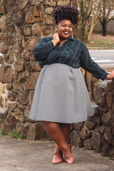 Plus Size Clothing for Women - Seeing Stripes Pleated Skirt (Sizes 14 - 20) - Society+ - Society Plus - Buy Online Now!