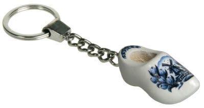 Sleutelhangers met 1 klompje 4 cm - Delftsblauw Tulp