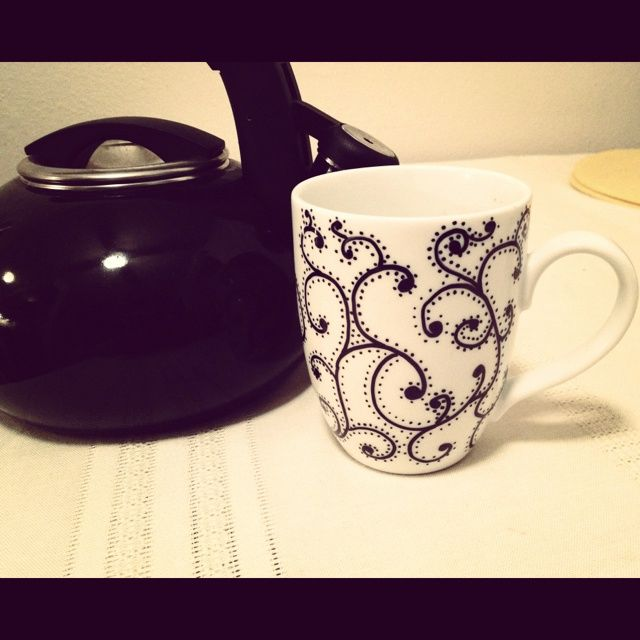 steps on how to make your own cute mugs step draw design or quote on mug or plate with a sharpie step bake in a 150 degree oven for 30 minutes - Mug Design Ideas
