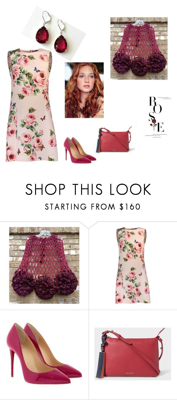 """""""ROSE"""" by artistinjewelry ❤ liked on Polyvore featuring Dolce&Gabbana, Christian Louboutin, PS Paul Smith and vintage"""