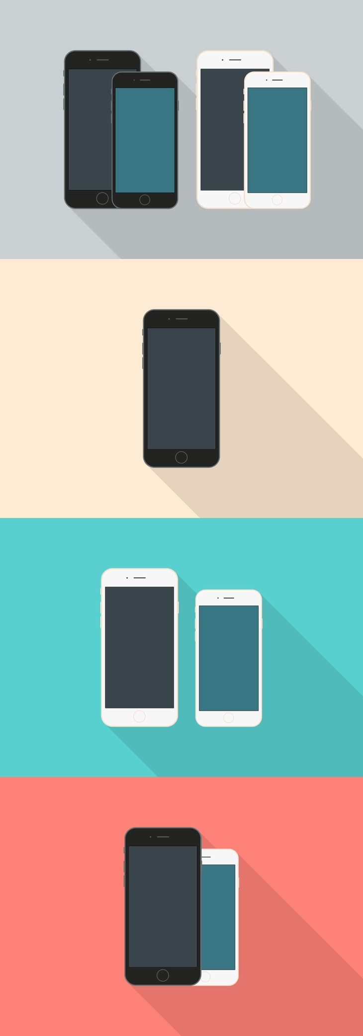 Flat Style iPhone 6 Mockups preview