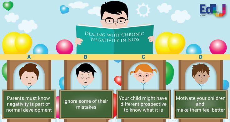 Dealing with cronic negativity in kids #EdusenseNote