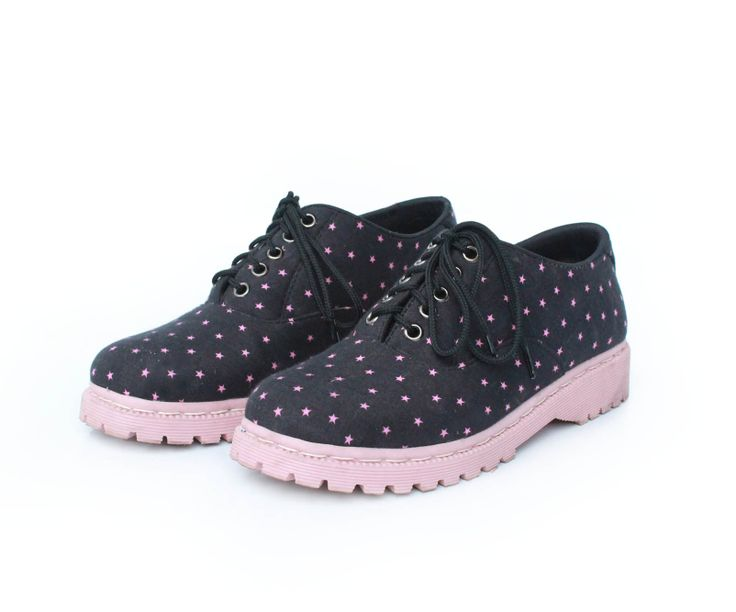 Estrella pink #oxfords #vintage #handmade #fashion #polcadot #rope #polca #dot #voila #boot #docmart #pink #polcastar #stars