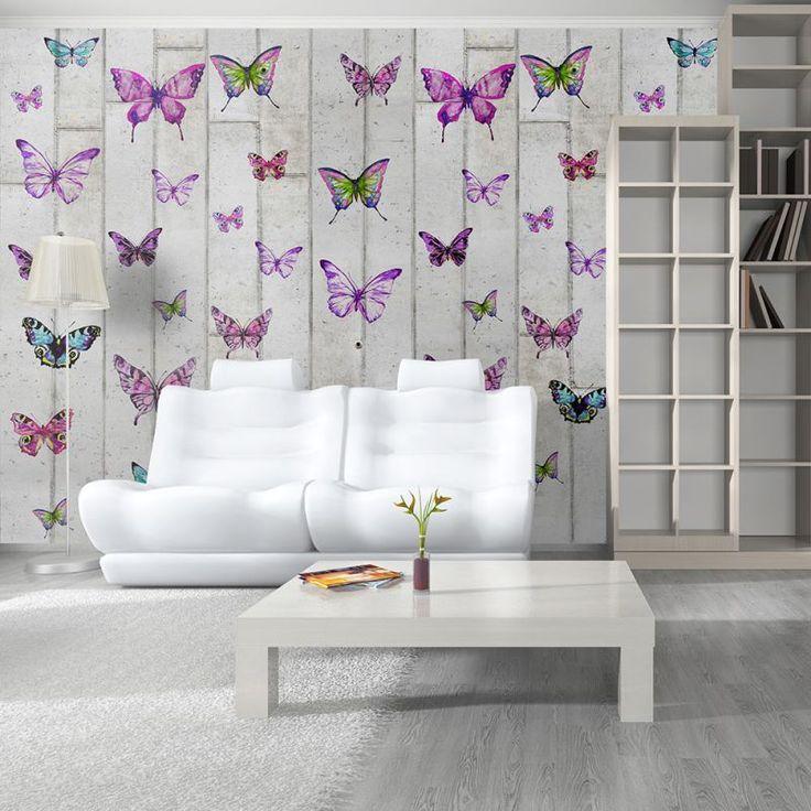 Foto-tapeta Motyle na ścianie