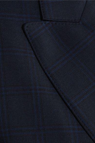 Balenciaga - Oversized Checked Wool Coat - Navy - FR38