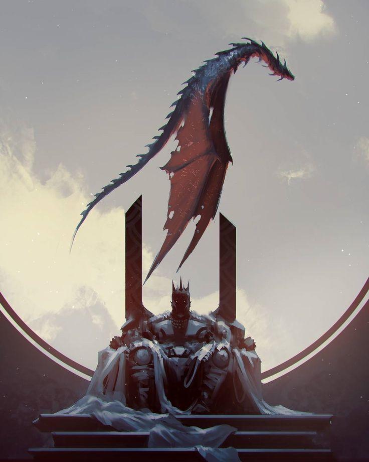 "regram @fantasy.journal . ""King"" by Ömer Tunç @kalmahul  To download images go to:  http://ift.tt/2apyBGa"