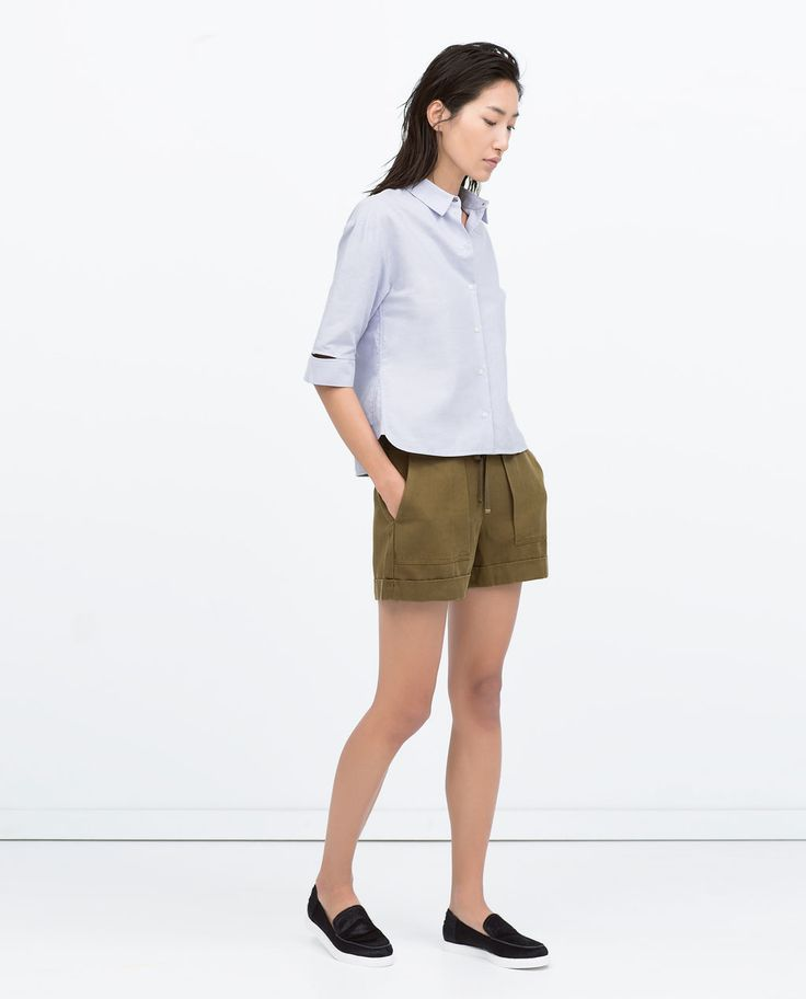Image 1 of SHORTS WITH BIG POCKETS from Zara