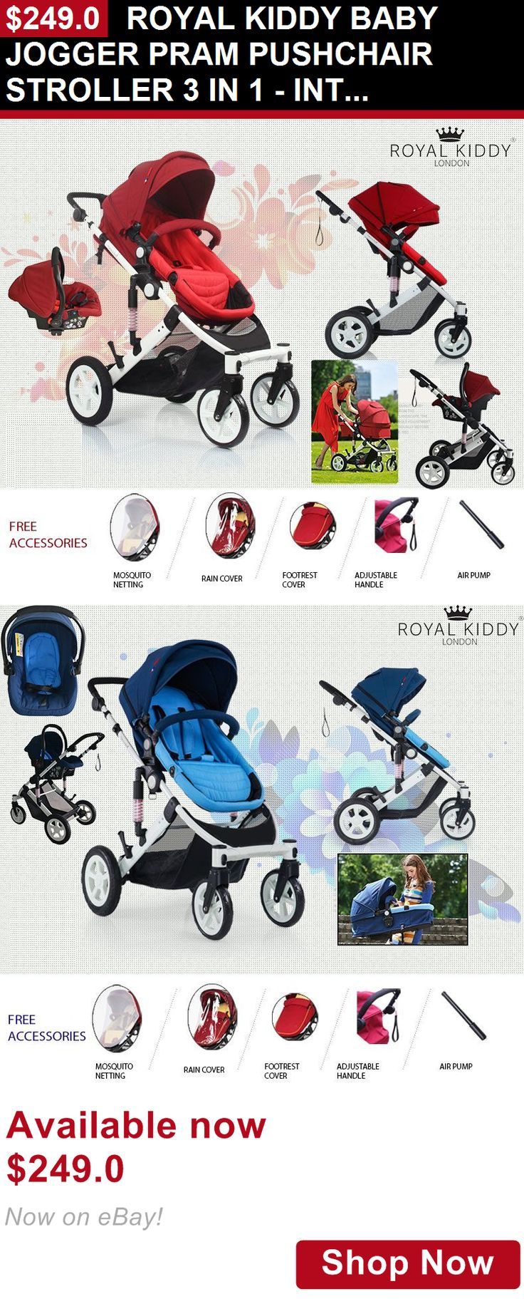 Other Strollers: Royal Kiddy Baby Jogger Pram Pushchair Stroller 3 In 1 - Int. Safety Standard BUY IT NOW ONLY: $249.0