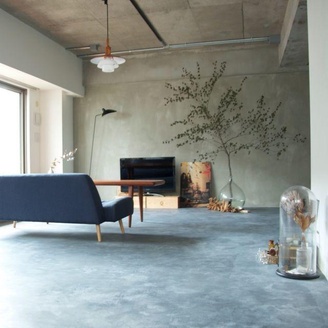 Overview,ルイスポールセン,セルジュムーユ,モルタルの床,塩系インテリアのインテリア実例 | RoomClip (ルームクリップ)